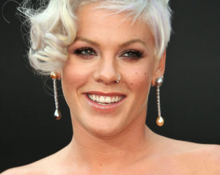 Singer Pink With Gray Hair