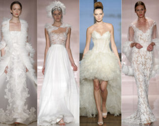 Wedding Dress Feather Trends 2014