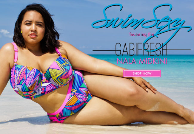 GabiFresh for Swimsuits For All 2014 Plus Size Swimwear Collection