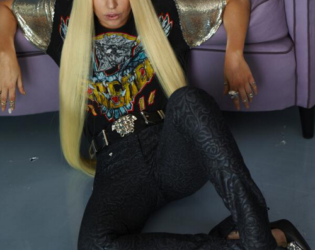Lady Gaga Unretouched Versace Campaign Photo (3)