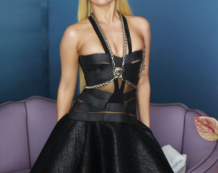Lady Gaga Unretouched Versace Campaign Photo (6)