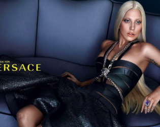 Lady Gaga Versace Retouched