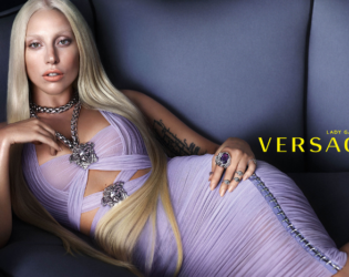 Lady Gaga Versace Retouched Campaign