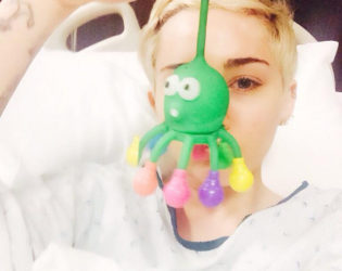 Miley Cyrus Hospital Bed
