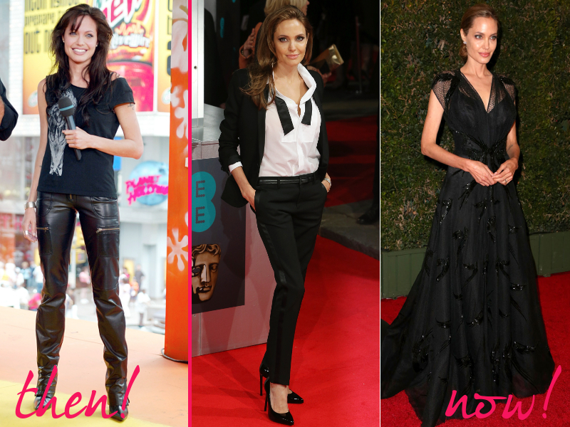 Angelina Jolie Old And New Style