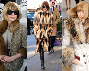 Anna Wintour Wearing Real Fur