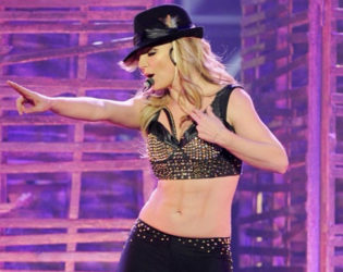 Britney Spears Fake Abs