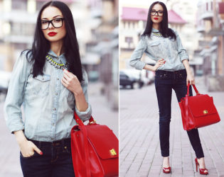 Dressy Double Denim Outfit