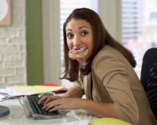 Eating On The Computer