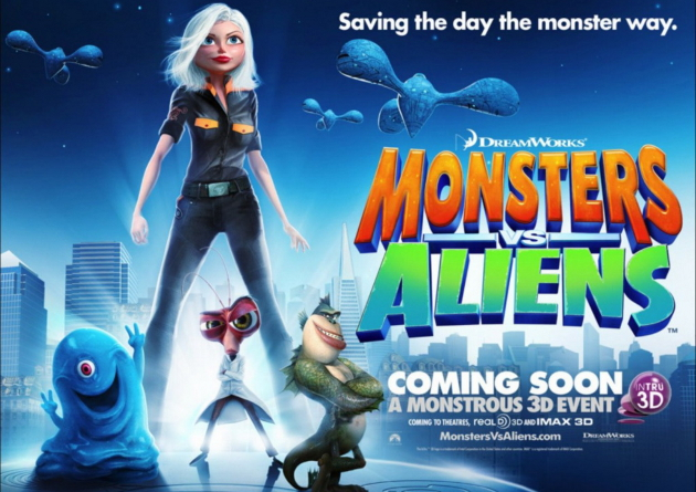 Monsters vs Aliens the Movie