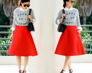 Outfit With A Line Skirt