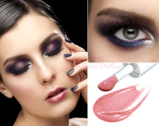 Purple Smokey Prom Makeup