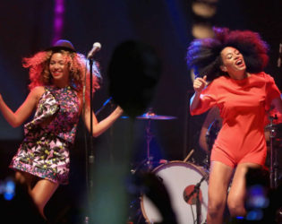 Solange And Beyonce At Cochella 2014