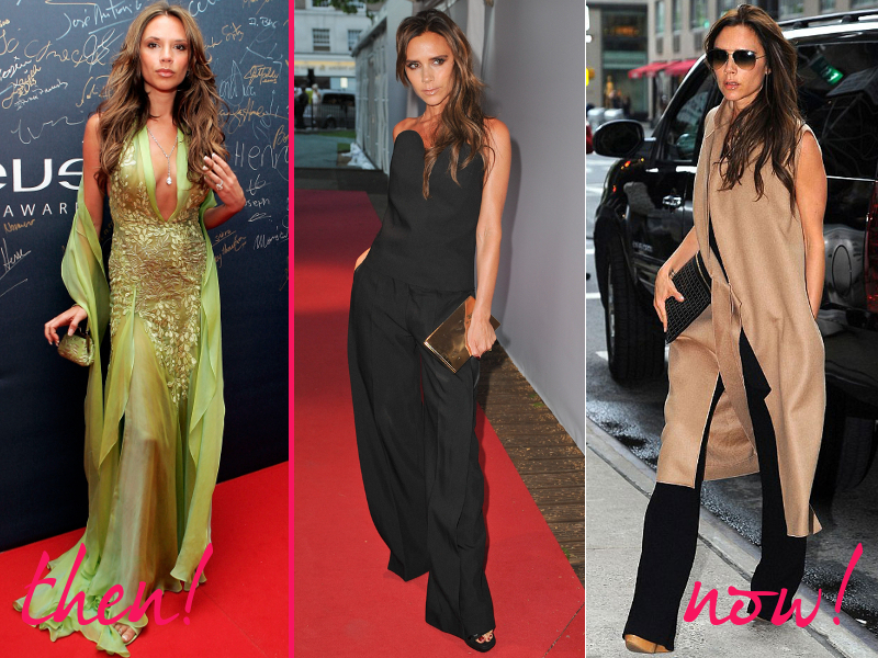 Victoria Beckhams Old And New Style