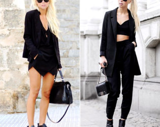 All Black Outfits With Jackets