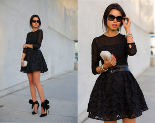 All Black Party Outfit