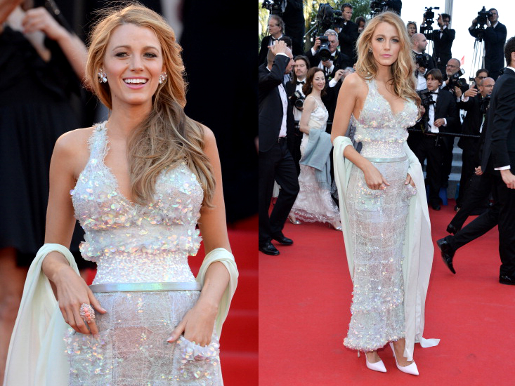 Blake Lively Chanel Dress Cannes 2014 Red Carpet