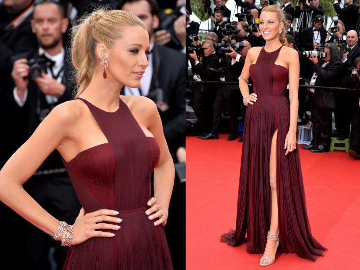 Blake Lively Gucci Dress Cannes 2014 Red Carpet