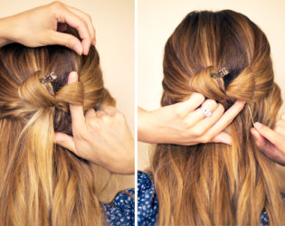 Bow Half Updo Hairstyle