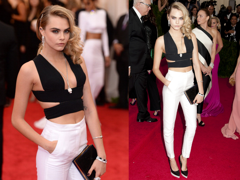 Cara Delevingne Outfit Met Ball 2014