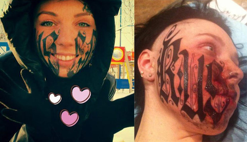 Pictures : Worst Tattoo Designs Ever - Dumb Face Tattoo