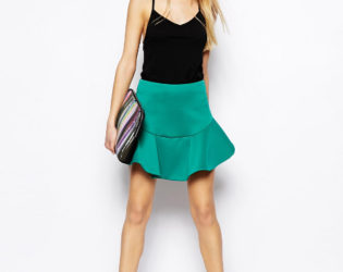 Green Skirt And Top