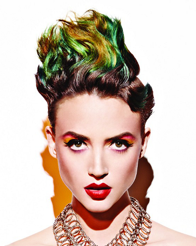 Green Yellow Hair Color