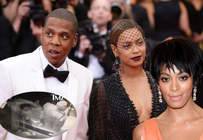 Jay-Z Violently Attacked by Solange After Met Gala 2014 – Fight Video Inside