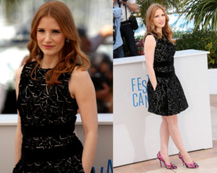 Jessica Chastain Alexander Mcqueen Dress Cannes 2014 Red Carpet