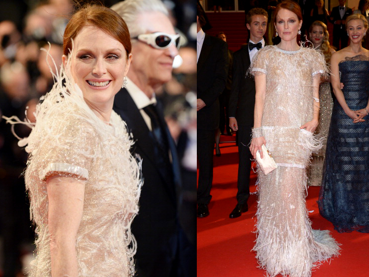 Julianne Moore Chanel Couture Dress Cannes 2014 Red Carpet