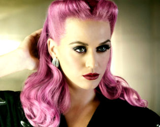 Katy Perry With Pink Hair Color