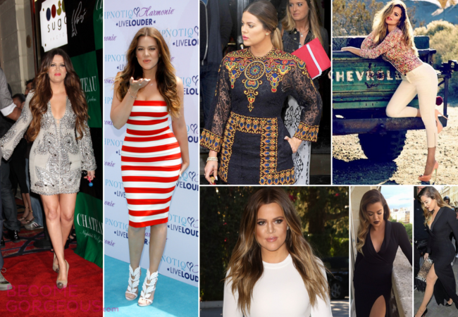 Khloe Kardashian's Amazing Beauty and Style Transformation