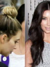 Kim Kardashian Visible Hair Extensions