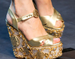 Metallic Shoes Trend