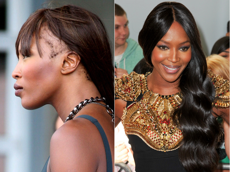 Naomi Campbell Without Her Weave