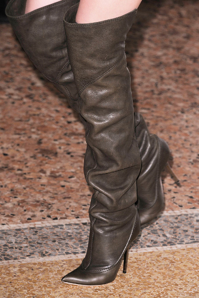 Pointy Toe Thigh High Boots