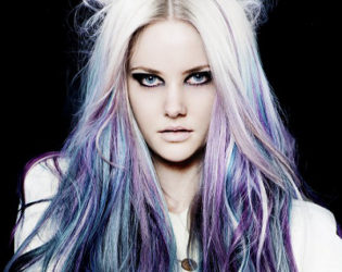 Purple Green Hair Color