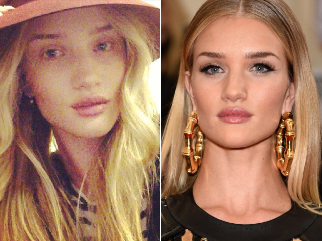 Rosie Huntington Whiteley Without Makeup