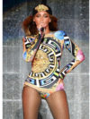 Beyonce On The Run Tour In Atelier Versace Bodysuit