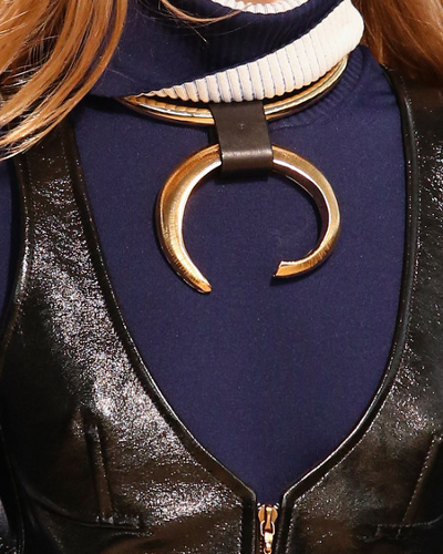 Louis Vuitton Fall 2014 Leather Necklace