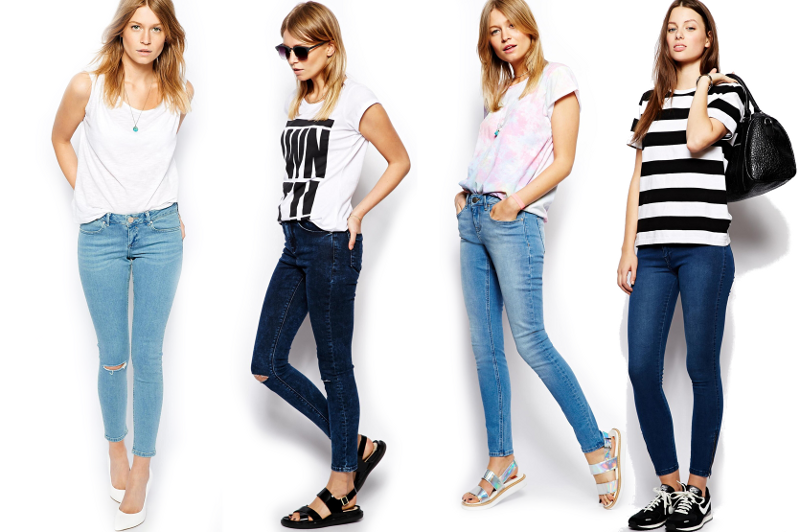 Ankle Cut Skinny Jeans