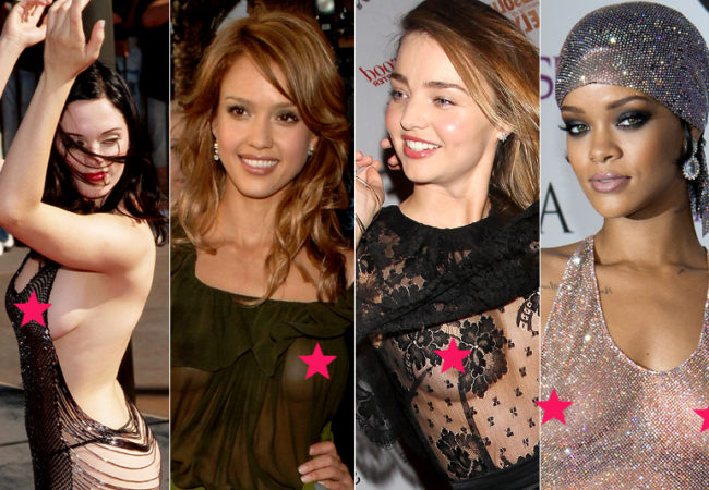 "Celebrities ""Free The Nipple"" on the Red Carpet"
