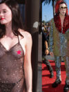 Rose Mcgowan Nip Slip In See Through Dress
