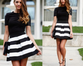 Wedding Guest Monochrome Outfit