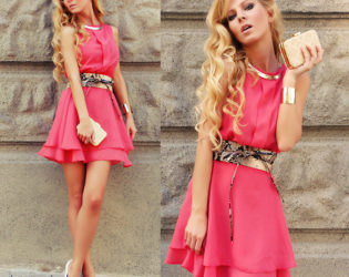 Wedding Guest Outfit Coral Ruffle Dress