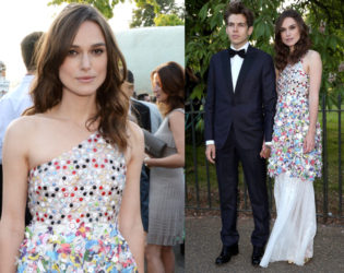 Keira Knightley Serpetine Party Outfit