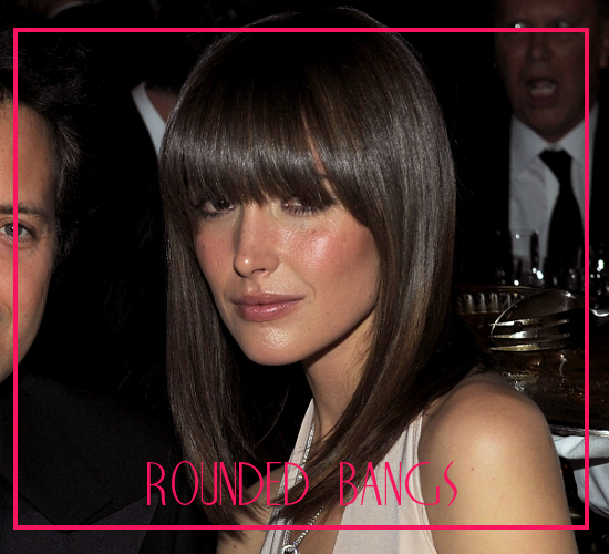Rounded Bangs For Square Jawline
