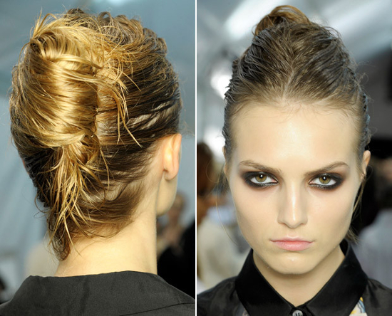 Wet Look French Twist