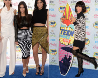 2014 Teen Choice Zebra Print
