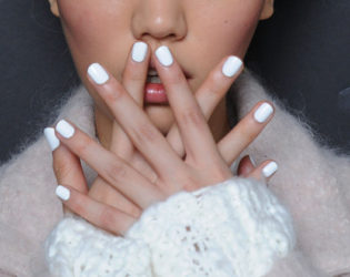 Bright White Nail Color Fall 2014